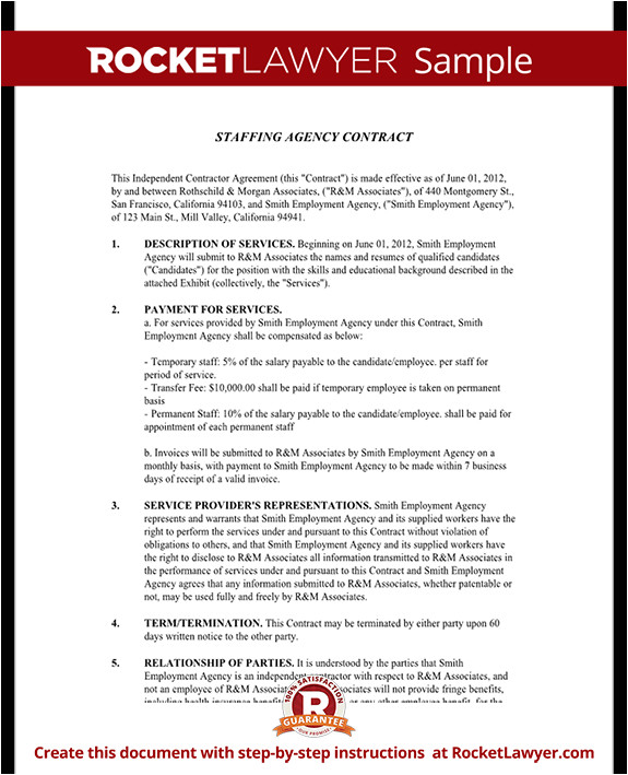 staffing agency contract rl