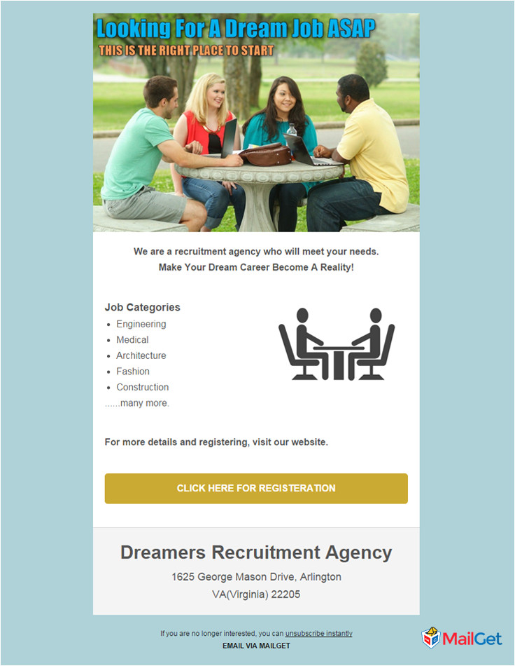 recruitment email template
