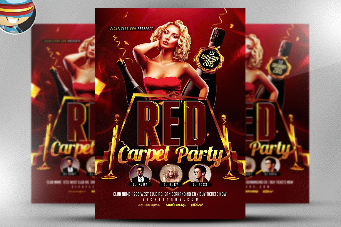 288089 red carpet event flyer template