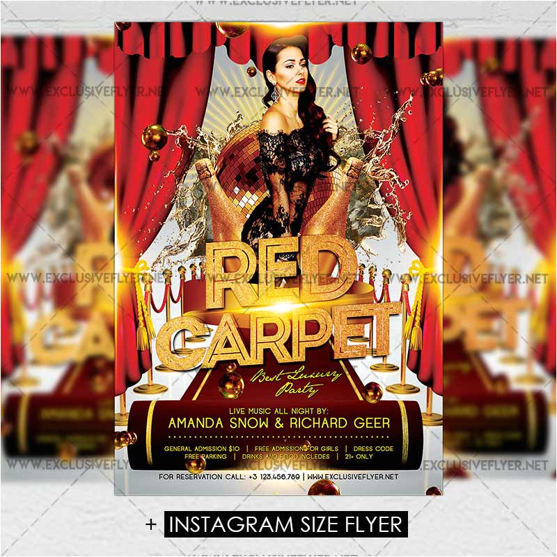 red carpet premium a5 flyer template