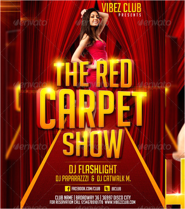 red carpet show flyer template 352891642