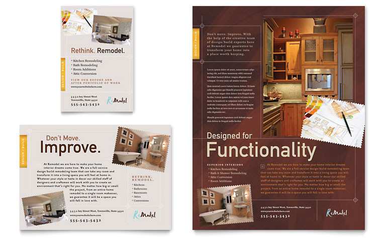 Remodeling Flyer Templates Free Home Remodeling Flyer Ad Template Word Publisher