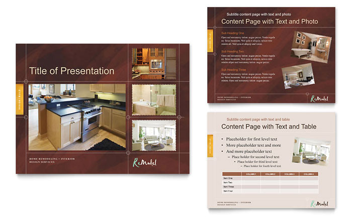 home remodeling powerpoint presentation template design co0062501