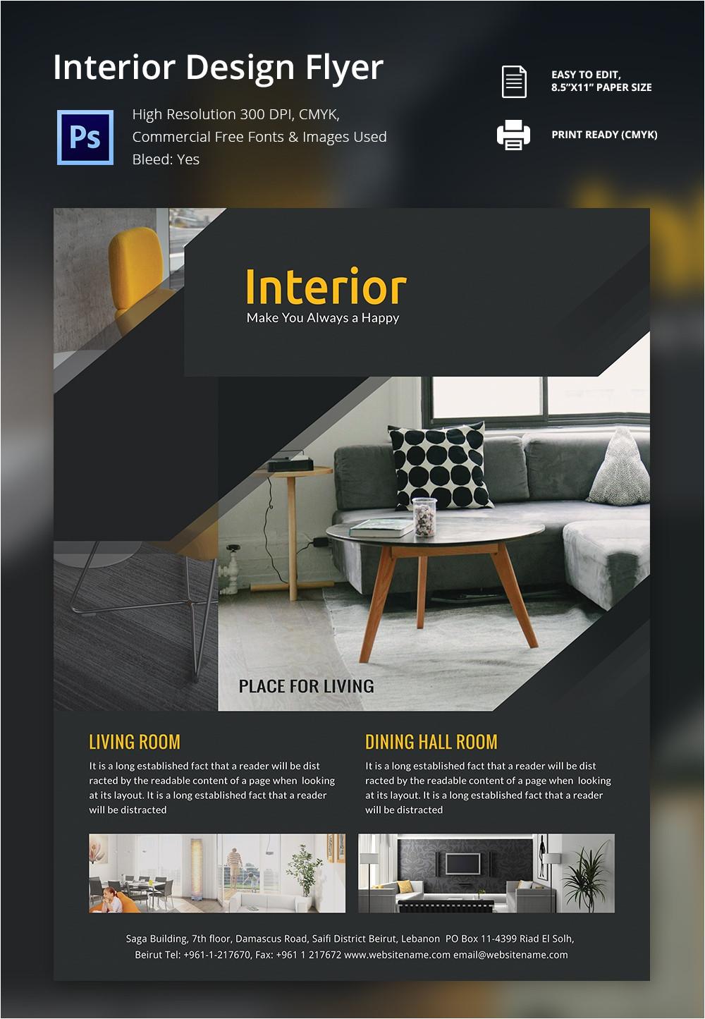 interior design brochure templates