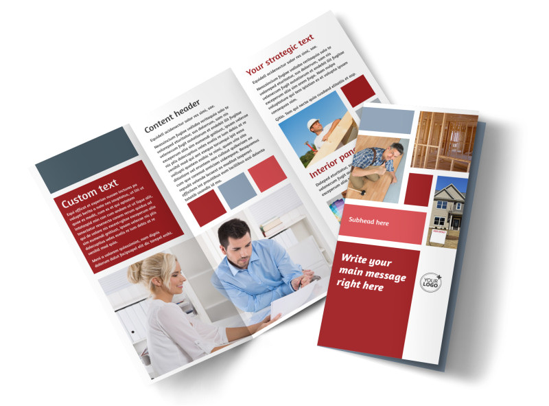 home remodeling renovation tri fold brochure template