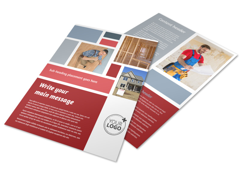home remodeling renovation flyer template