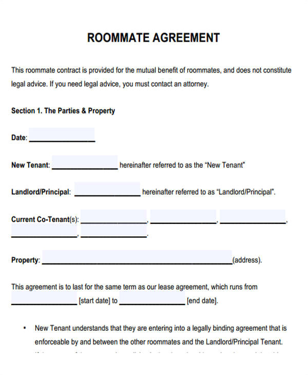 Rent A Room Contract Template Ireland Roommate Contract Template Template Business
