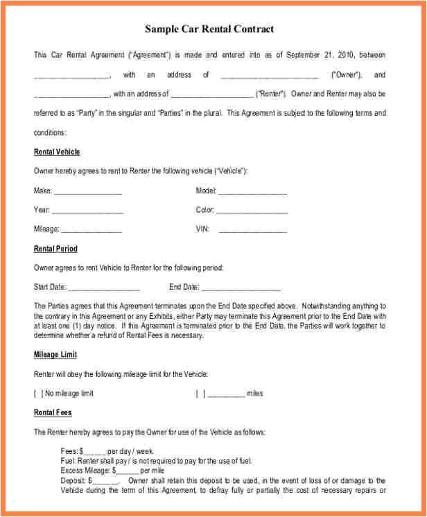 12 enterprise car rental agreement contract