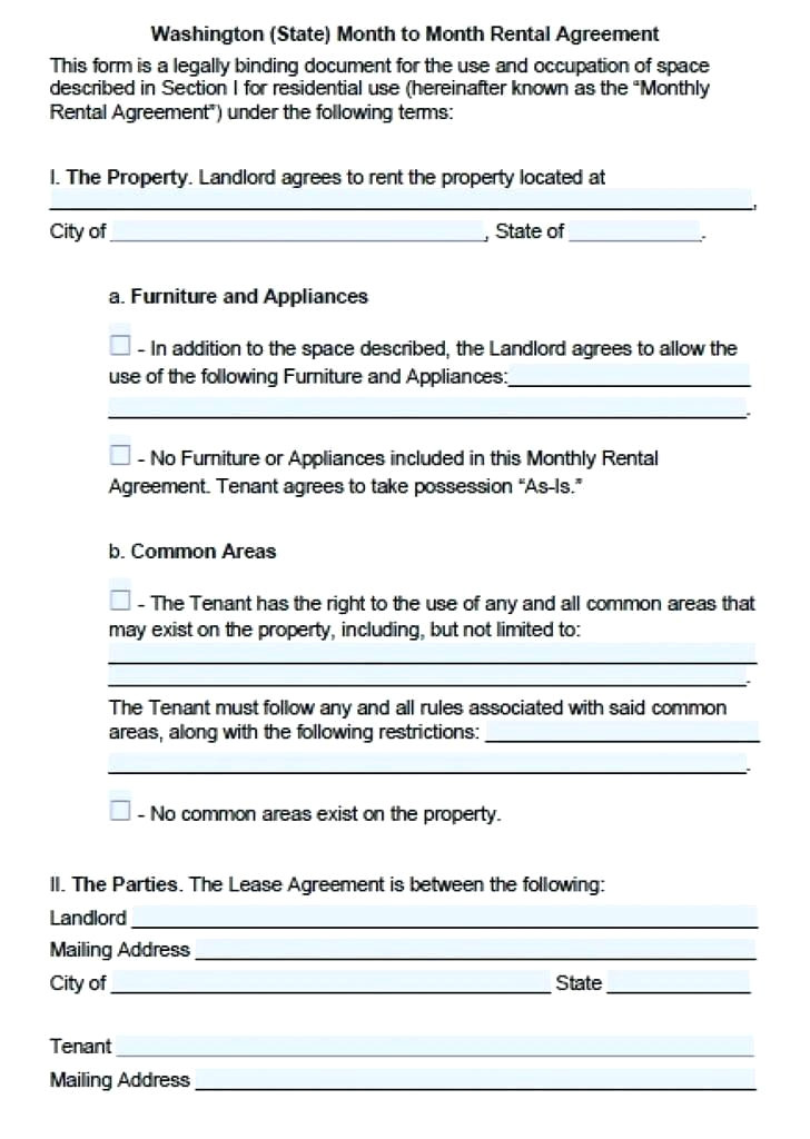 rental lease agreement california template