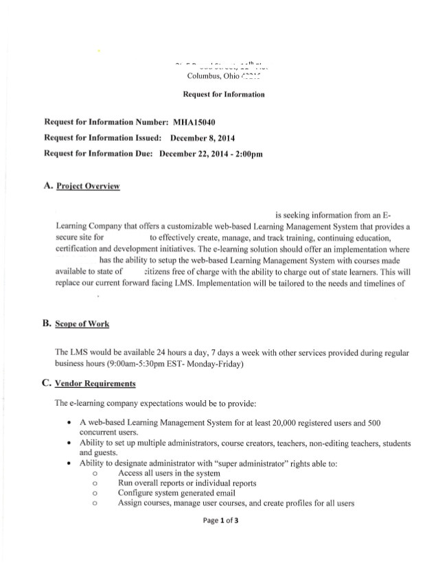lms rfp template