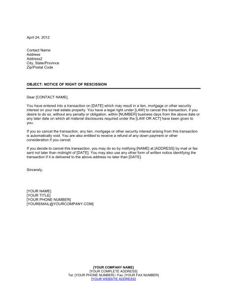 notice of right of rescission d1217