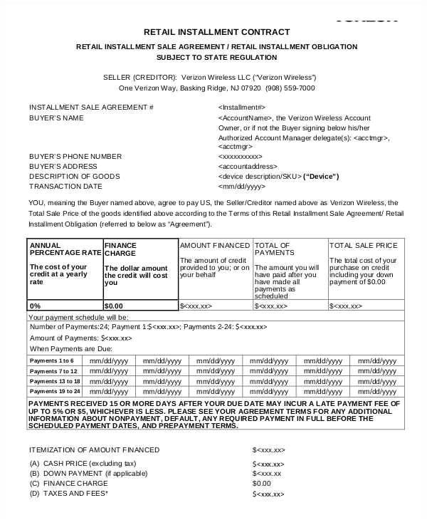 installment sales contracts