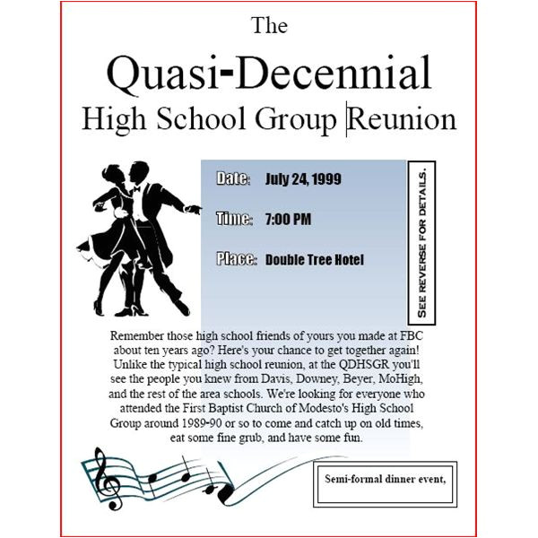 Reunion Flyer Template Free High School Reunion Flyers A Nice Selection Of
