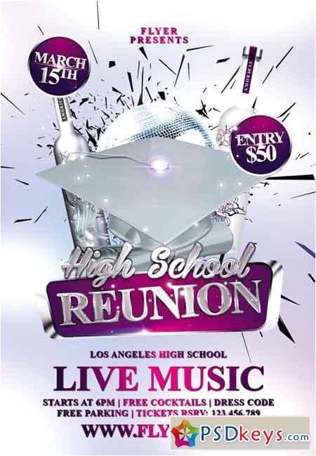 62755 high school reunion premium flyer template