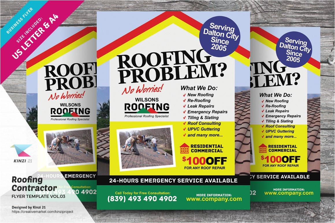 2175016 roofing contractor flyer vol 03
