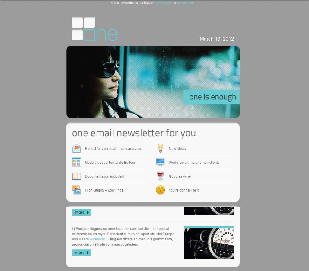 modelli di design per newsletter accattivanti e colorati
