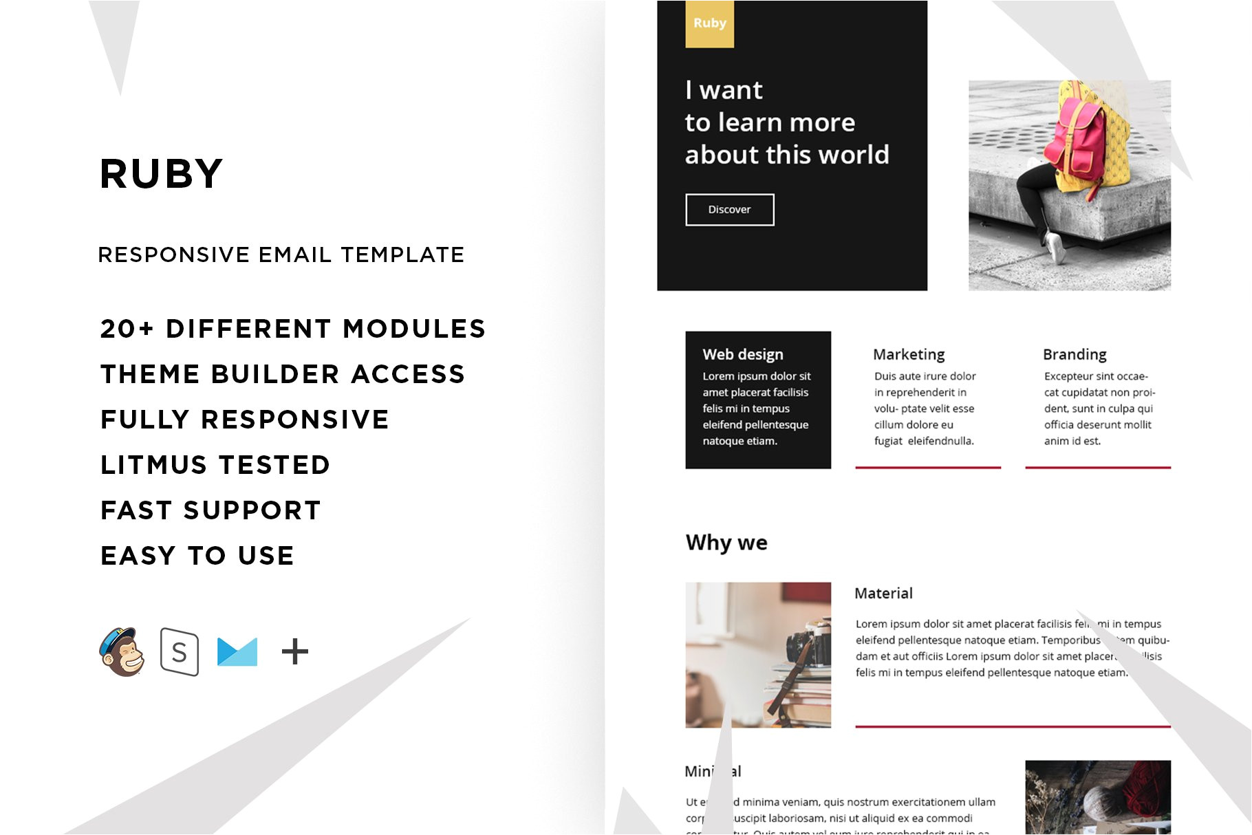 Ruby Email Template Ruby Responsive Email Template Mailchimp Templates