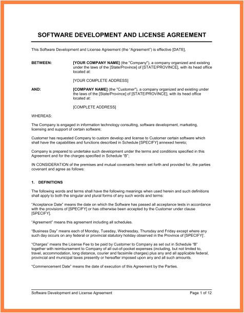 saas agreement template