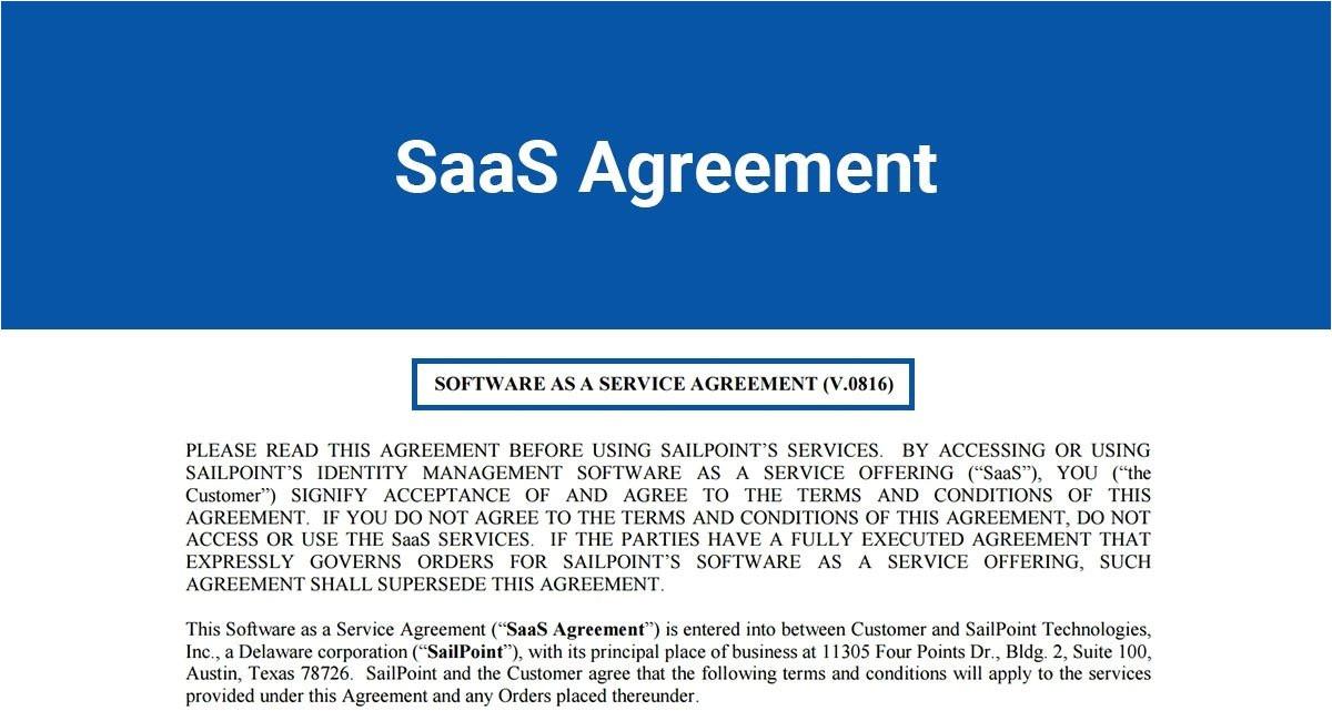 saas agreement