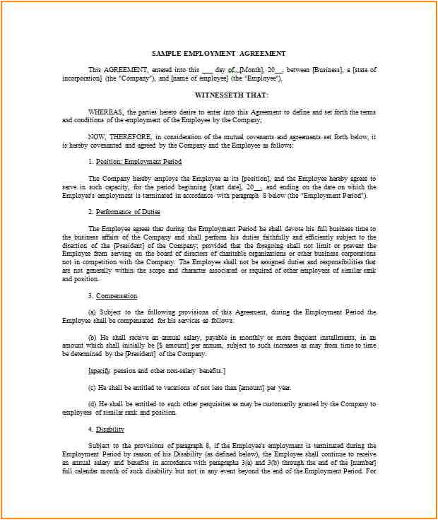 9 salary contract template