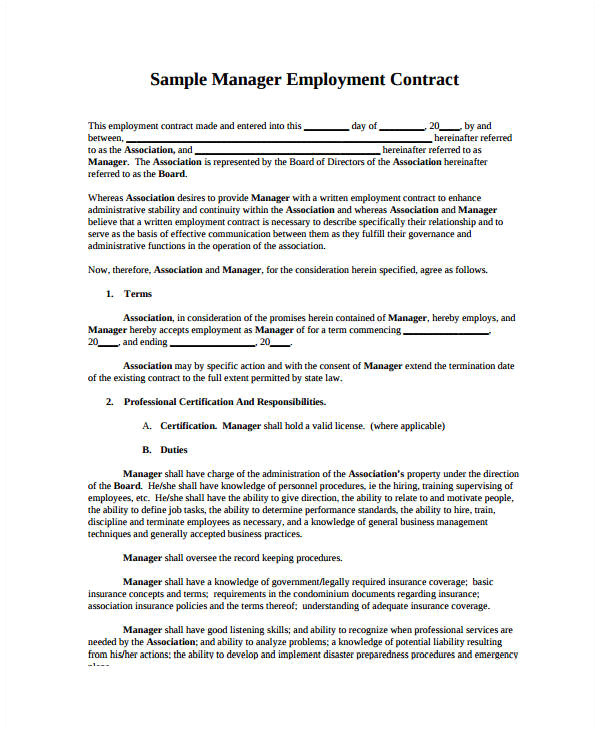 Sales Manager Contract Template Free 22 Sales Contract Templates Word Pages Free