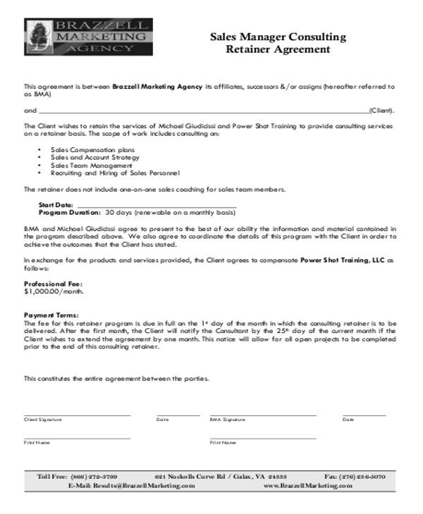 consulting retainer agreement