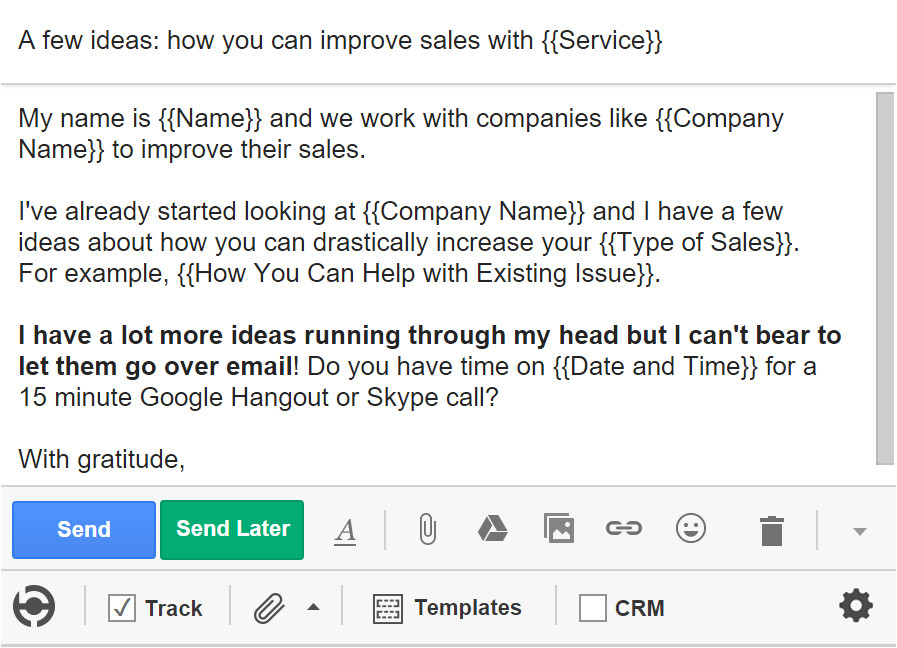 Sales Pitch Email Template 5 Cold Email Templates that Actually Get Responses Bananatag