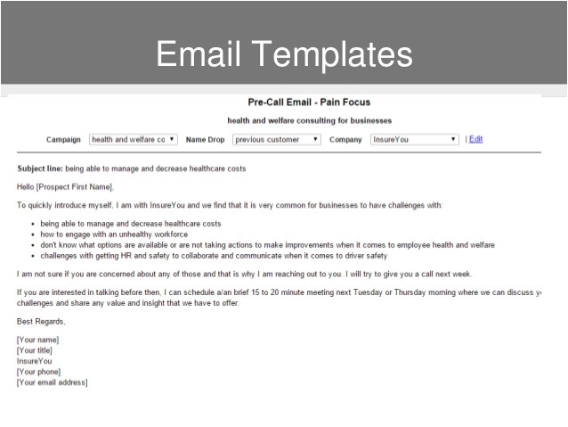 Sales Pitch Email Template Build A Strong Sales Pitch when Selling Insurance