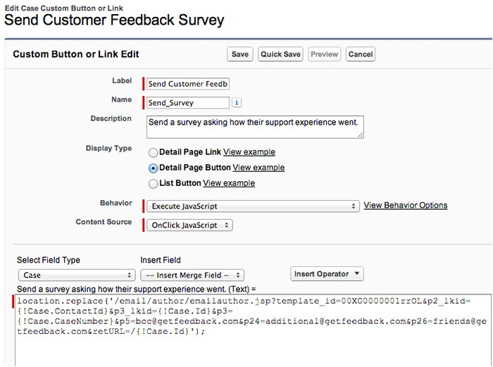 creating custom buttons in salesforce