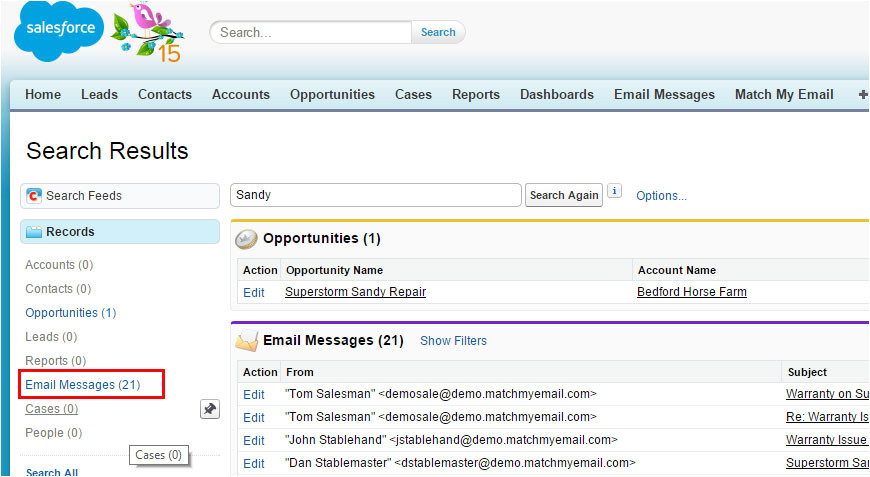 Salesforce Email Template Lookup Field Deleting Emails From A Global Search In Salesforce Com
