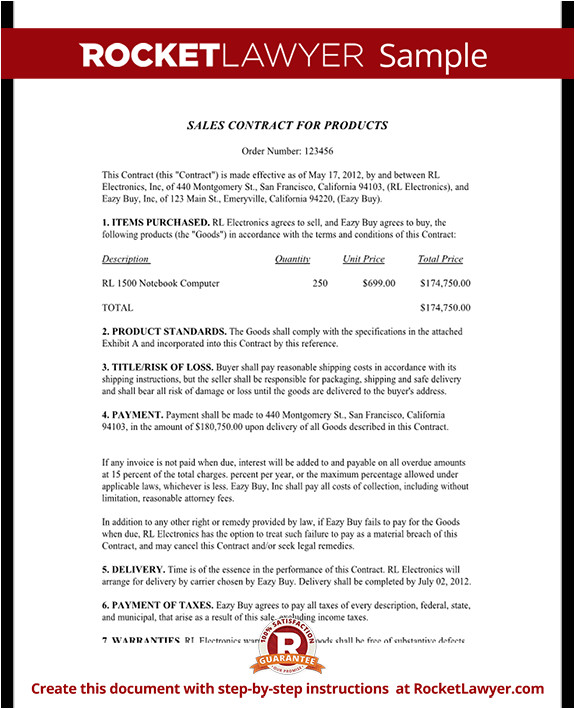 Salesperson Contract Template Sales Contract Template Free Sales Contract form with