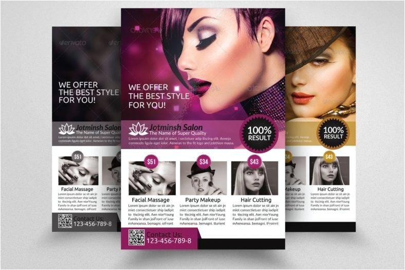 hair salon flyer designs templates psd ai indesign