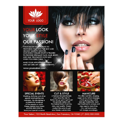 promotional salon and spa flyer templates 244069069406176394