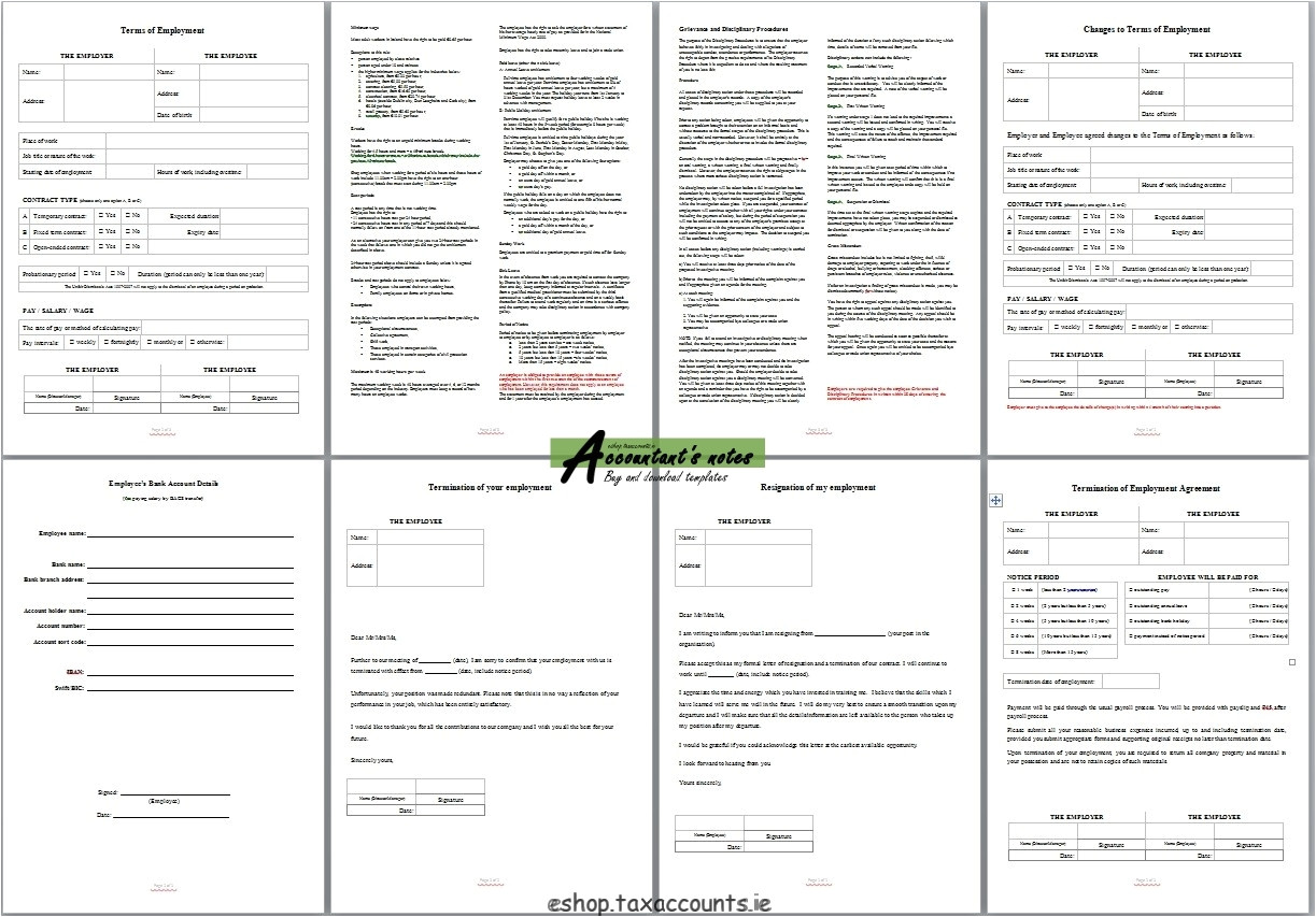 employment contract template package