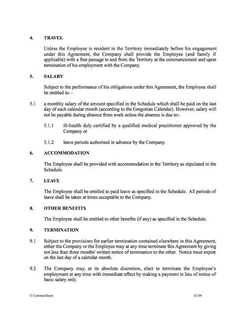 expatriate contract