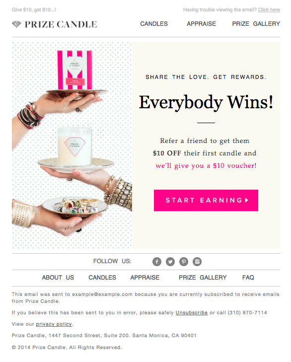 email blast examples