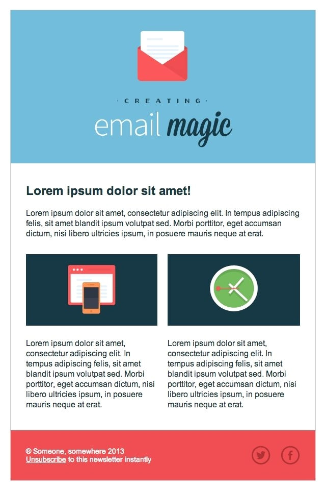 html email template code
