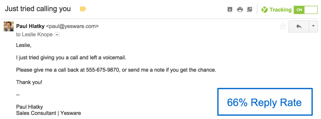 sales follow up email