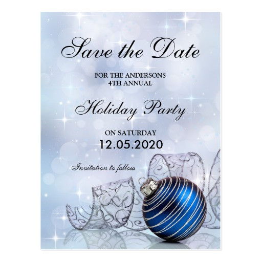 christmas and holiday party save the date template postcard 239244165069074740