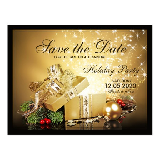 christmas party save the date templates postcard 239022314954783223
