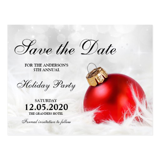 christmas party save the date templates postcard 239022558423051289