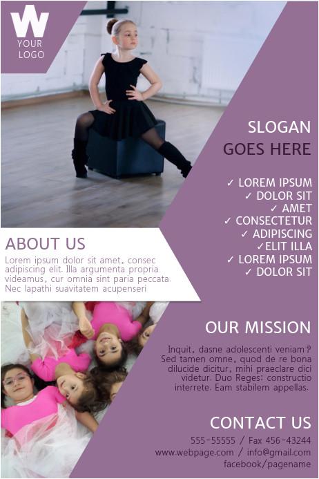 dance school poster template