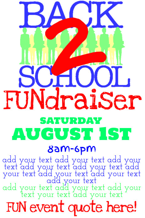 School Fundraiser Flyer Templates Simple Back to School Fundraiser Flyer Poster Template