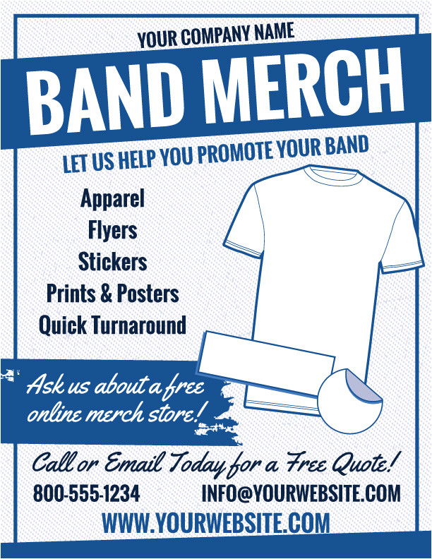 band merch marketing flyers