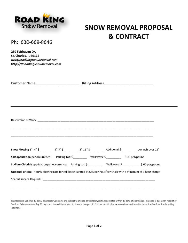 Seasonal Snow Removal Contract Template 20 Snow Plowing Contract Templates Free Download