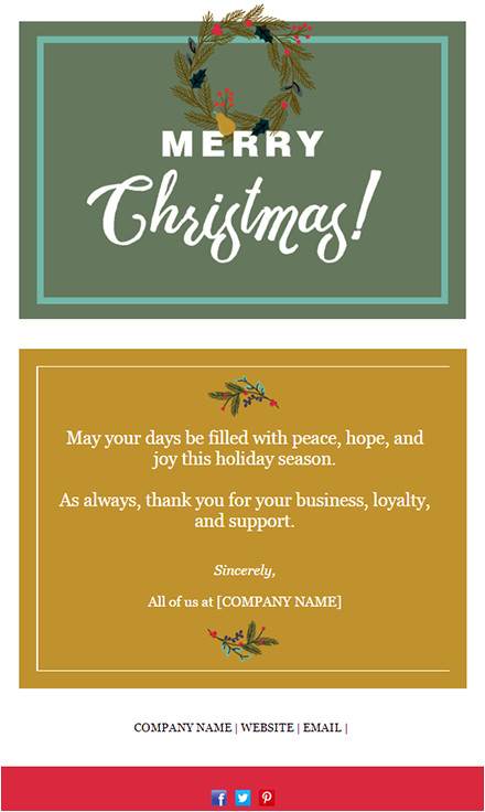 Seasons Greetings Email Template Free 11 Holiday Email Templates for Small Businesses Nonprofits