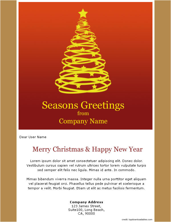 holiday greetings email template