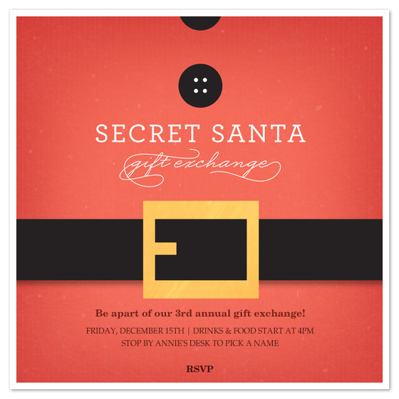 secret santa belt