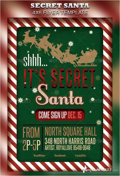 7062 graphicriver secret santa flyer raffle ticket