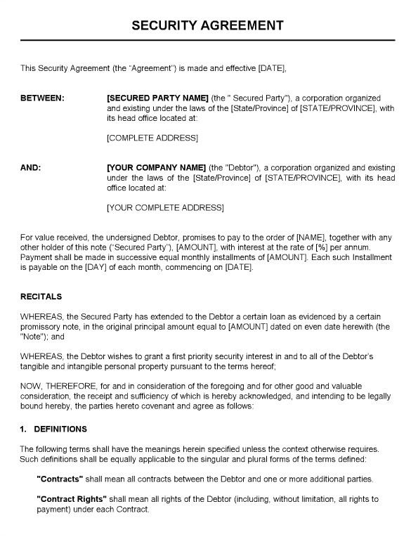 Security Guard Service Contract Template 14 Security Contract Templates Word Pdf Apple Pages